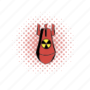 atomic, bomb, comics, danger, nuclear, war, weapon icon