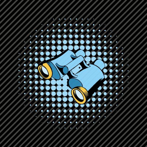 binocular, comics, instrument, military, vision, watch, zoom icon