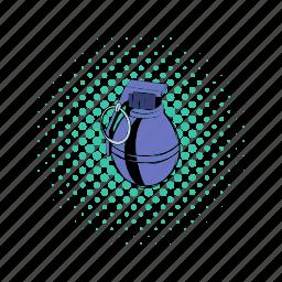 army, bomb, comics, explosive, grenade, war, weapon icon