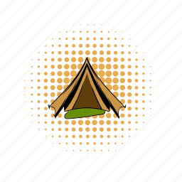 army, camp, comics, military, soldier, tent, war icon