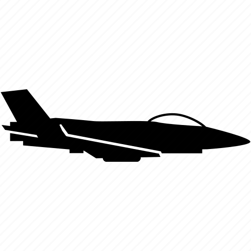 airplane, fighter, jet, military icon