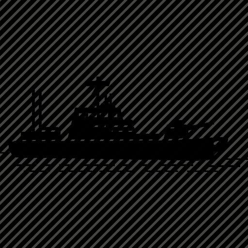 battle cruiser, ship, war, warship icon