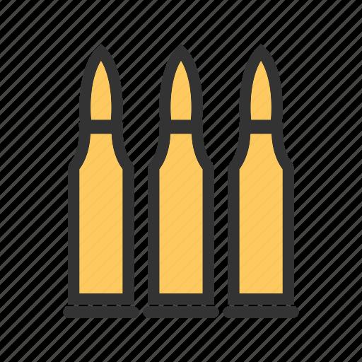 ammunition, bullet, bullets, danger, gun, war, weapon icon