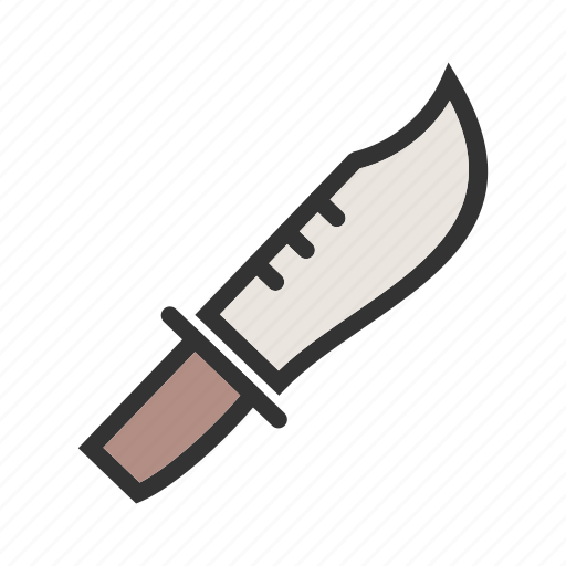 armed, army, bowie, knife, military, object, weapon icon