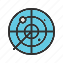 army, control, military, radar, screen, traffic, war icon