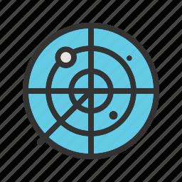 army, control, military, radar, screen, traffic, war icon