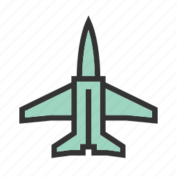 aircraft, airplane, fighter, flight, fly, jet, military icon
