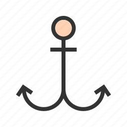 anchor, marine, nautical, rope, sea, ship, steel icon