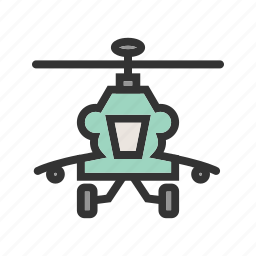 army, blades, flight, helicopter, military, sky, technology icon