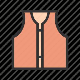 boat, jacket, life, orange, rescue, safety, vest icon