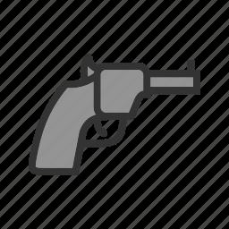 barrel, danger, gun, handgun, pistol, power, revolver icon