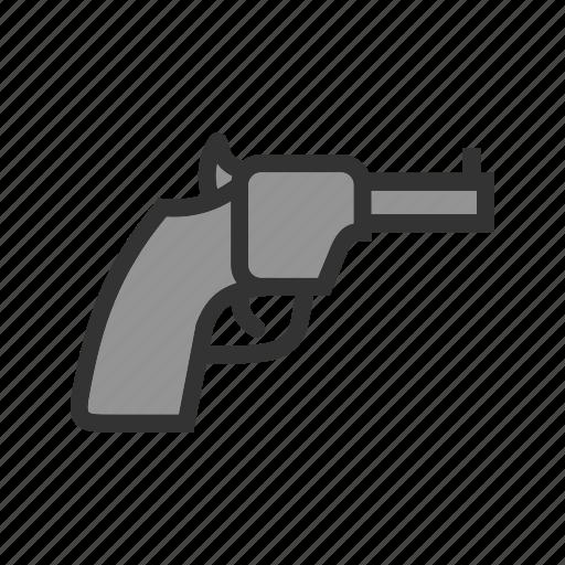 Barrel, danger, gun, handgun, pistol, power, revolver icon - Download on Iconfinder