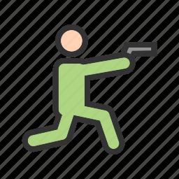 gun, hunting, police, rifle, shooting, sport, weapon icon