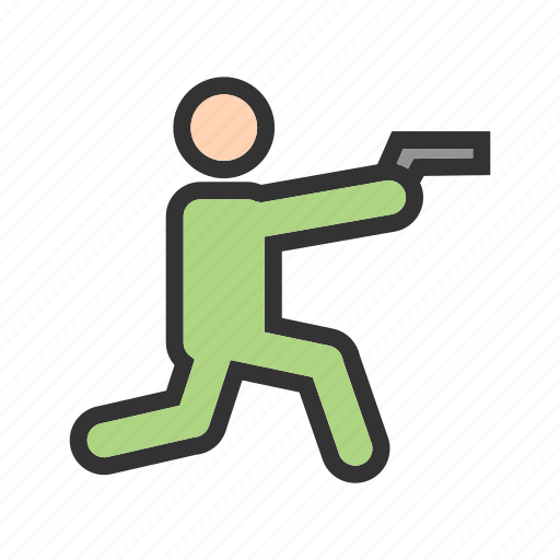 gun, hunting, police, rifle, shooting, sport, weapon icon