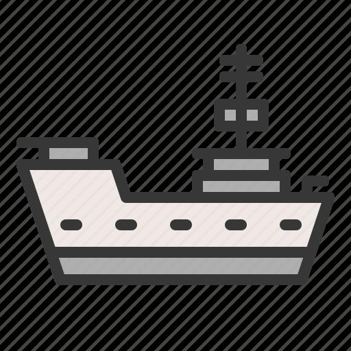 army, battleship, force, military, ship, vehicle, warship icon