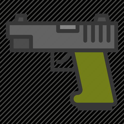 army, equipment, force, gun, handgun, military, weapon icon