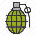 army, bomb, equipment, grenade, hand grenade, weapon icon