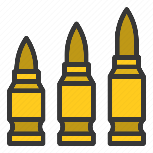 ammo, ammunition, army, bullet, equipment, weapon icon