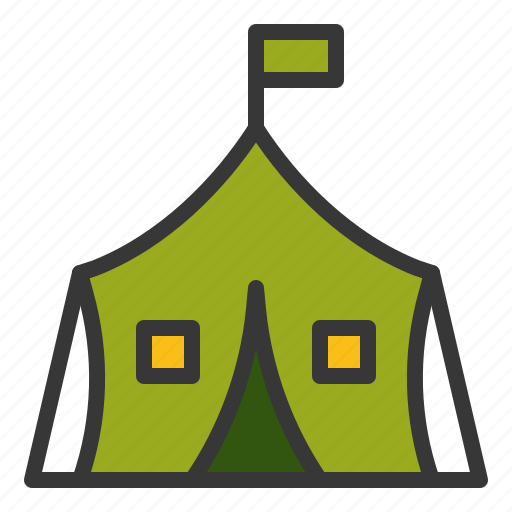 army, army tent, camp, tent icon