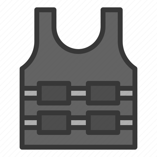 armor, army, equipment, plate vest, protection icon