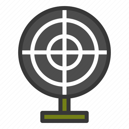 aim, army, goal, target icon