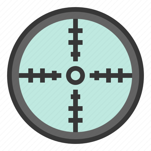 aim, army, point, sight, target icon
