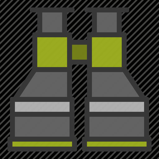 Equipment, binocular, sight, spyglass, army icon