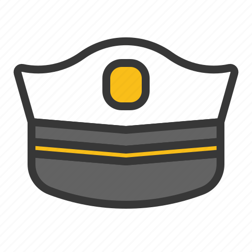 army, cap, equipment, hat, police cap, police hat icon