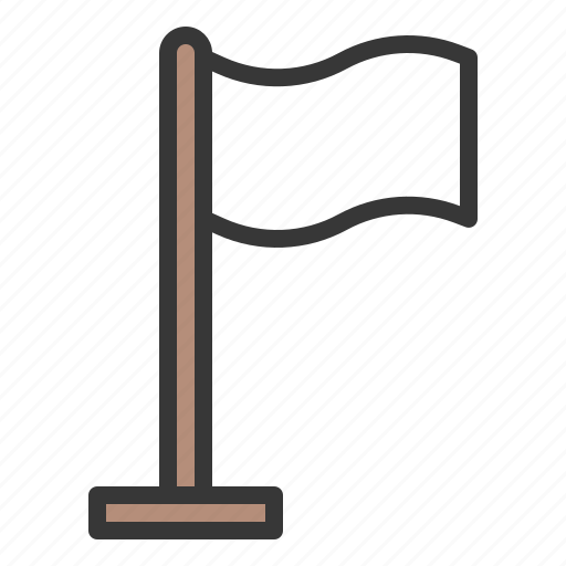 army, flag, surrender, white flag icon