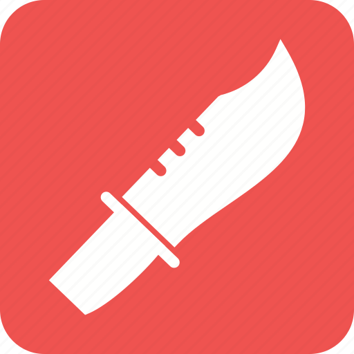 armed, army, bowie, knife, object, sharp, weapon icon