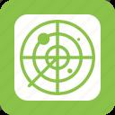screen, green, air, radar, traffic, military, war icon