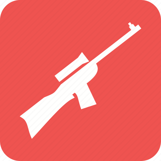 gun, machine, military, rifle, shooting, sight, sniper icon