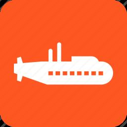 boat, military, sea, ship, submarine, technology, underwater icon