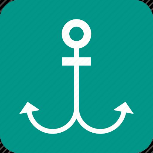 anchor, marine, nautical, old, rope, sea, ship icon
