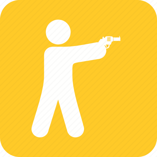 crime, criminal, gun, hunting, police, shooting, weapon icon