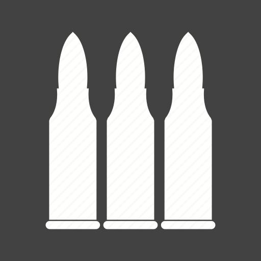 ammunition, bullet, bullets, danger, gun, shot, war icon