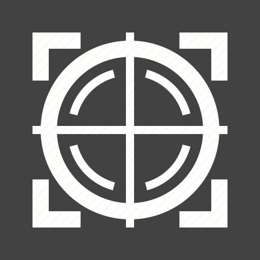 circle, cross, design, dot, gun, sight, target icon