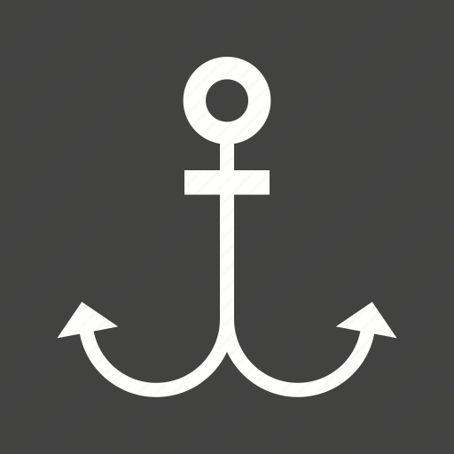 anchor, nautical, rope, sea, ship, sign, steel icon