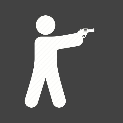 bullet, crime, criminal, gun, hunting, police, shooting icon