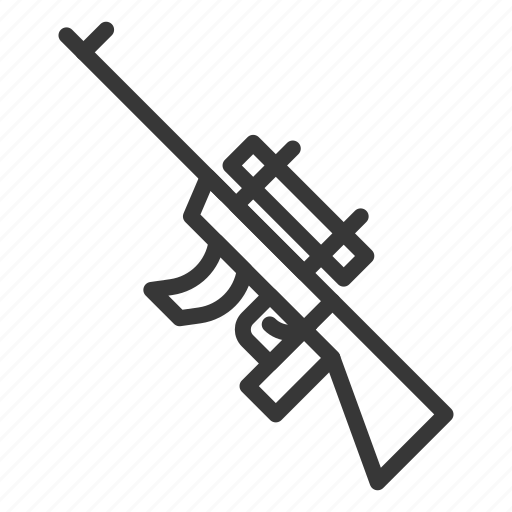 army, assault gun, equipment, gun, military, sniper, weapon icon