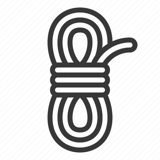 army, equipment, rope, string icon