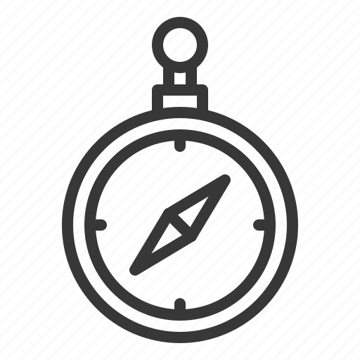 compass, direction, equipment icon