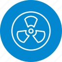 danger, hazard, nuclear, radiation, radioactive icon