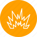 blast, danger, explosion, nuclear icon
