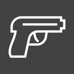 bullet, gun, handgun, pistol, shot, suicide, target icon