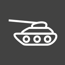 army, gun, military, tank, transport, war, weapon icon