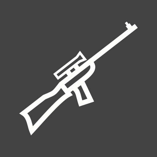 gun, machine, military, rifle, shooting, sight, sniper icon