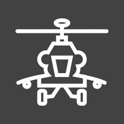 air, army, blades, helicopter, military, sky, technology icon