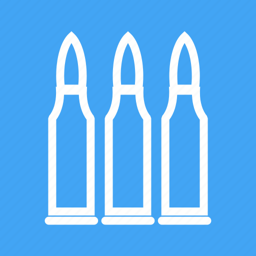 ammunition, bullet, bullets, danger, gun, shot, war icon