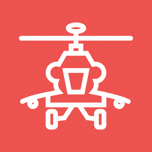 air, apache, army, blades, helicopter, military, sky icon